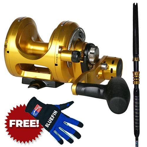 Okuma Makaira Two Speed Lever Drag Reel & Rod Combo