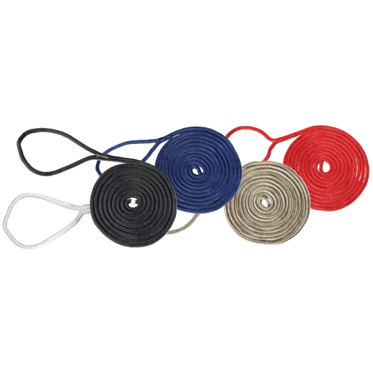 Marpac Premier Double Braided Nylon Dockline - 1/2 Inch x 30 Feet - Black