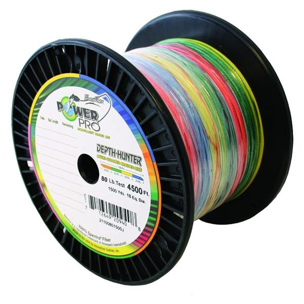 Power Pro Depth-Hunter Metered Braided Fishing Line 80 Pounds 1500 Yards - Multi Color