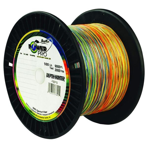 Power Pro Depth-Hunter Metered Braided Fishing Line 100 Pounds 3000 Yards - Multi Color