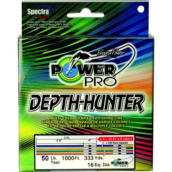 Power Pro Depth-Hunter Metered Braided Fishing Line 50 Pounds 333 Yards - Multi Color