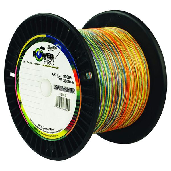 Power Pro Depth-Hunter Metered Braided Fishing Line 80 Pounds 3000 Yards - Multi Color