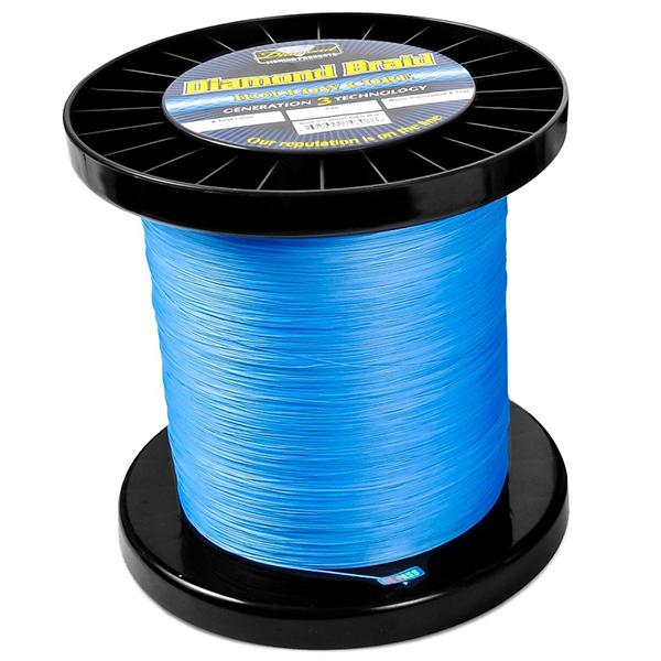 Momoi Diamond Gen 3 Braided Line - 60 Pounds 1500 Yards - Hollow Core - Blue