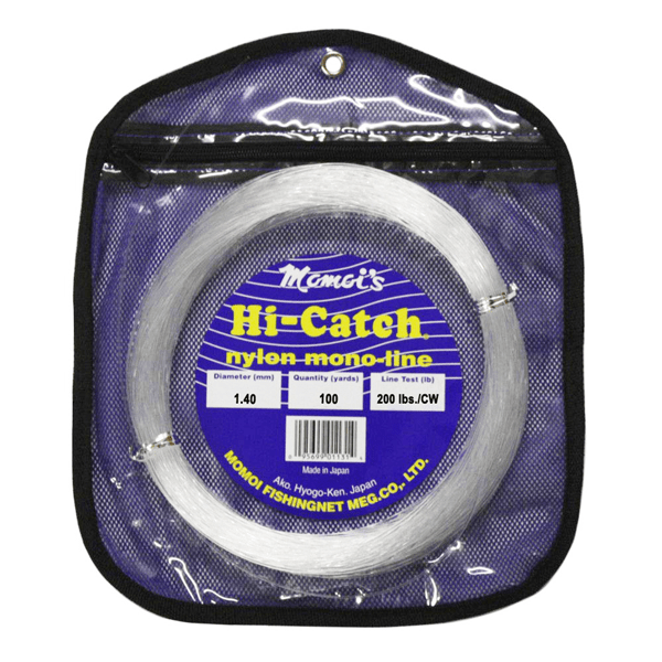 Momoi Hi-Catch Monofilament Leader 200 Pounds 100 Yards - Clear White - Bulluna.com