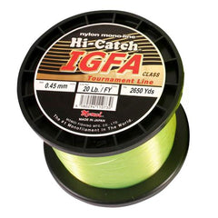 Momoi Hi-Catch I.G.F.A. Nylon Monofilament Line 20 Pounds 2650 Yards - Fluorescent Yellow - Bulluna.com