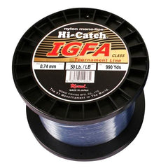 Momoi Hi-Catch I.G.F.A. Nylon Monofilament Line 50 Pounds 990 Yards - Light Blue - Bulluna.com