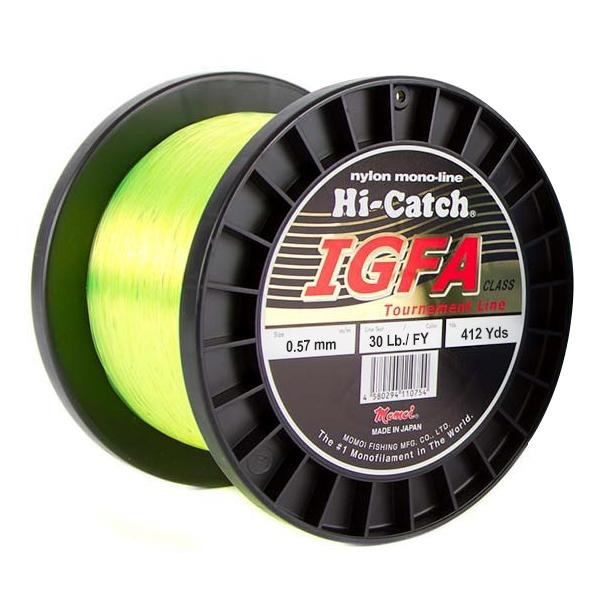 Momoi Hi-Catch I.G.F.A. Nylon Monofilament Line 30 Pounds 412 Yards - Fluorescent Yellow