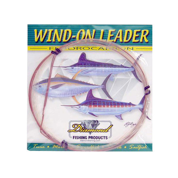 Momoi Diamond Fluorocarbon Wind-On Leader 25 Foot