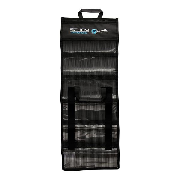 Fathom 6 Pocket Roll Up Lure Bag - Medium - Black