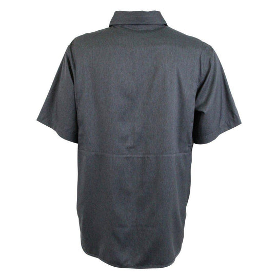 Aftco Cumulus Charcoal Heather Tech Vented Shirt