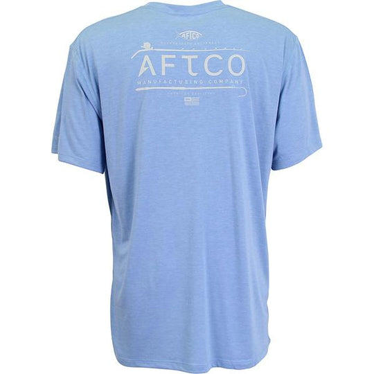 Aftco Fishtale Kottinu Magnum Blue Short Sleeve Performance Shirt