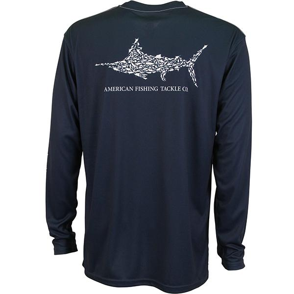 Aftco Jigfish Midnight Long Sleeve Sun Shirt