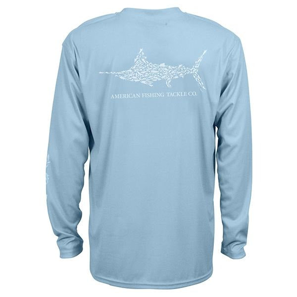 Aftco Jigfish Sky Blue Long Sleeve Sun Shirt