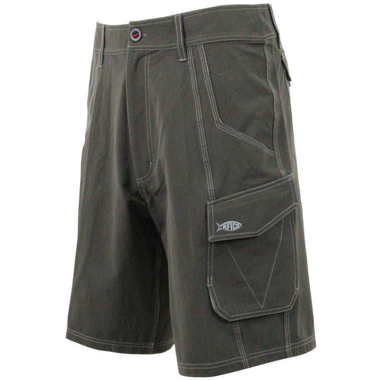 Aftco Stealth Black Fishing Shorts