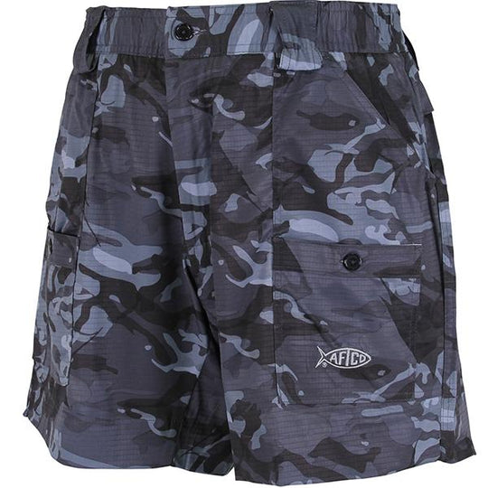 Aftco Black Camo Original Fishing Shorts