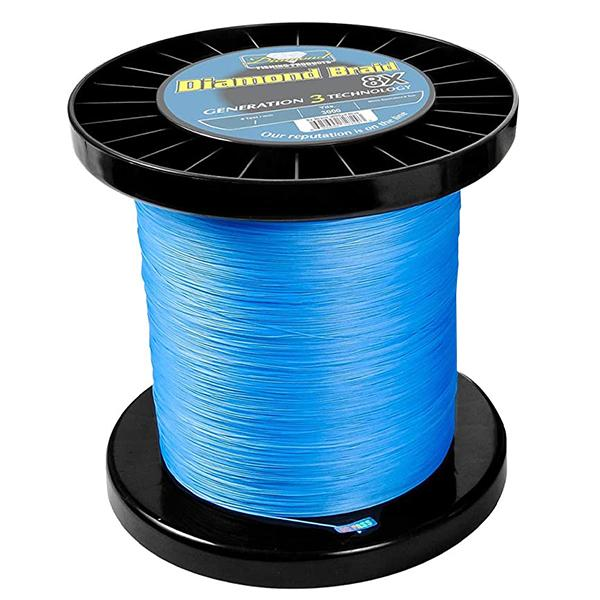 Momoi Diamond Gen 3 8X Braided Line - 100 Pounds 3000 Yards - Solid Core - Blue - Bulluna.com
