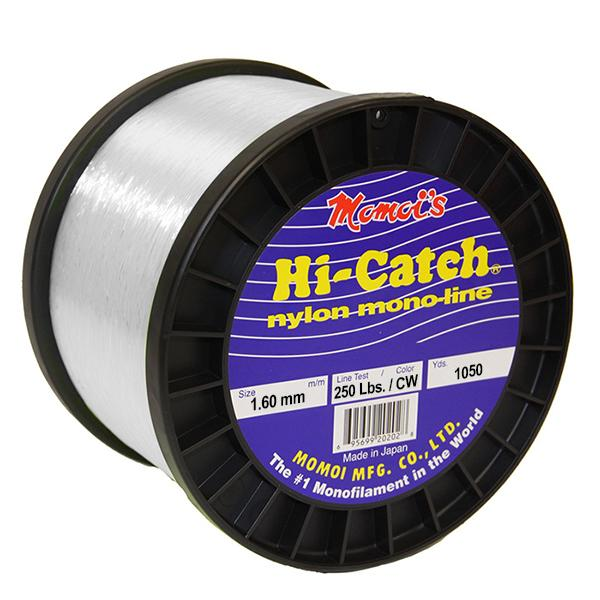 Momoi Hi-Catch Nylon Monofilament Line 250 Pounds 1050 Yards - Clear White - Bulluna.com