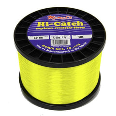 Momoi Hi-Catch Nylon Monofilament Line 12 Pounds 5800 Yards - Fluorescent Yellow - Bulluna.com