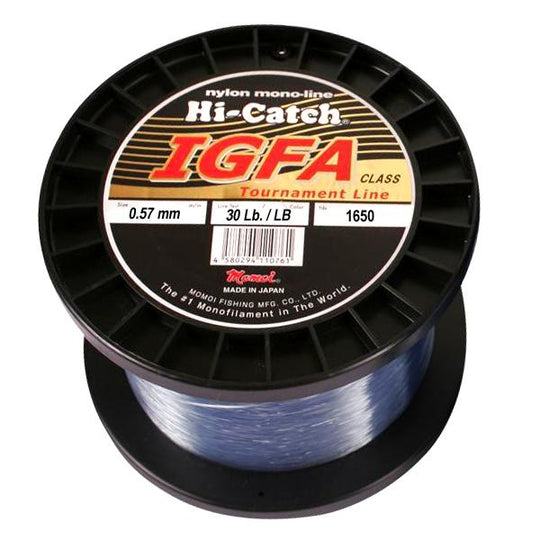 Momoi Hi-Catch I.G.F.A. Nylon Monofilament Line 30 Pounds 1650 Yards - Light Blue