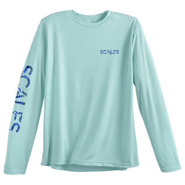 Scales Tropical Marlin Seafoam Performance Shirt (HN) - Bulluna.com