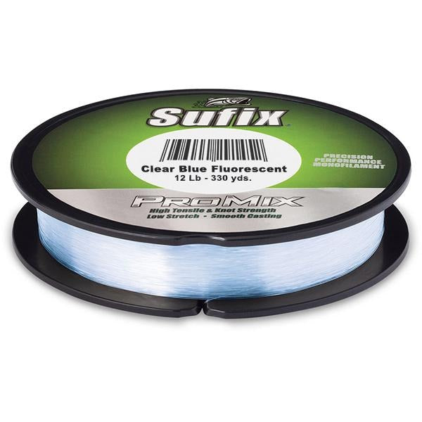 Sufix ProMix Low-Memory Monofilament Line - 12 Pounds 330 Yards - Clear Blue Fluorescent
