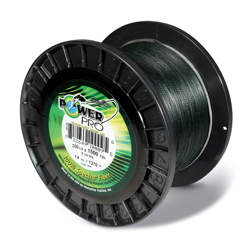 Power Pro Spectra Braided Fishing Line 200 Pounds 1500 Yards - Green - Bulluna.com