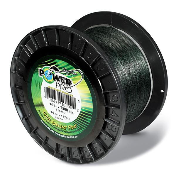 Power Pro Spectra Braided Fishing Line 10 Pounds 1500 Yards - Green