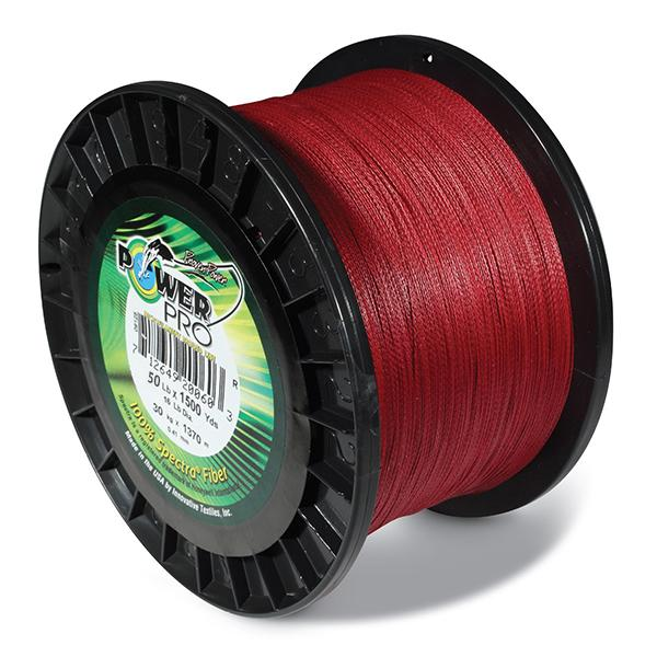 Power Pro Spectra Braided Fishing Line 50 Pounds 1500 Yards - Vermillion Red - Bulluna.com