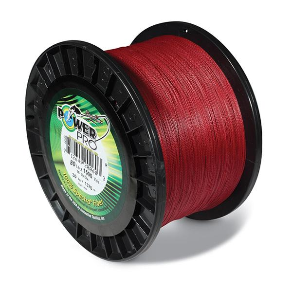 Power Pro Spectra Braided Fishing Line 80 Pounds 1500 Yards - Vermillion Red - Bulluna.com