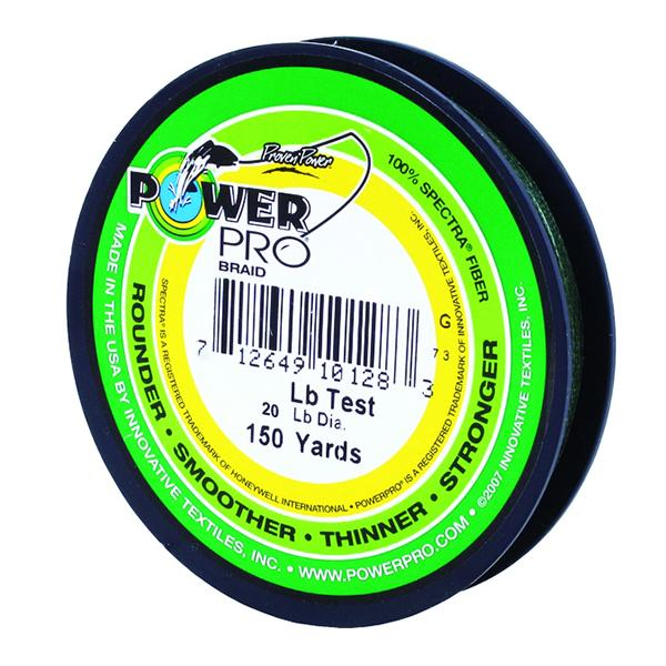 Power Pro Spectra Braided Fishing Line 20 Pounds 150 Yards - Green