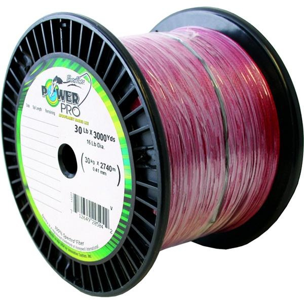 Power Pro Spectra Braided Fishing Line 30 Pounds 3000 Yards - Vermillion Red - Bulluna.com