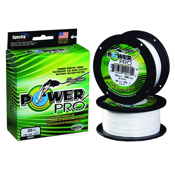 Power Pro Spectra Braided Fishing Line 20 Pounds 300 Yards - White