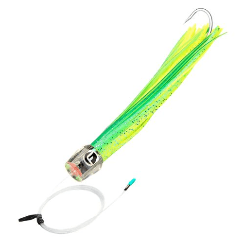Fathom Offshore Mo Head Chugger Half-Pint Extra Small Pre-Rigged 6 Inch Trolling Lure - 7/0 Stainless Steel Single Hook - Bulluna.com