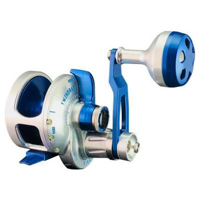Accurate BV2-500N Boss Valiant Narrow Two Speed Conventional Reel - Silver/Blue - Bulluna.com