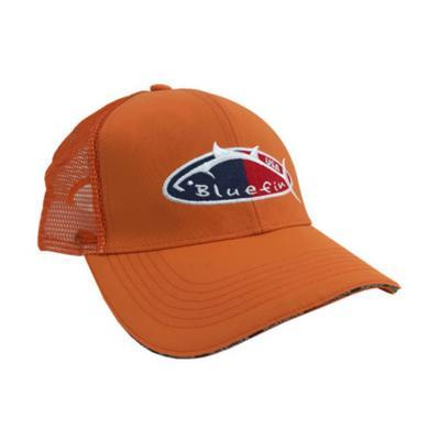 Bluefin USA Orange Angler Big Game Trucker Hat - Bulluna.com