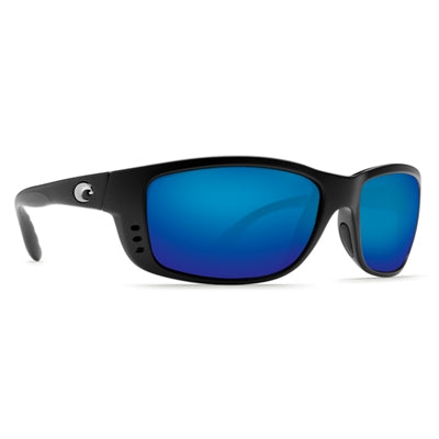 Costa del Mar Zane Sunglasses - Matte Black Frame - Blue Mirror Glass