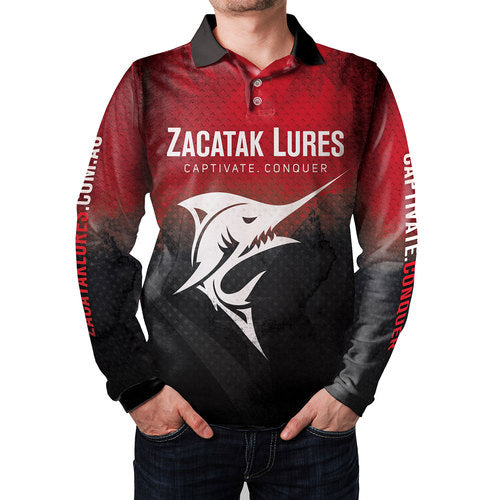 Zacatak Lures Sublimated Long Sleeve Fishing Sun Shirt