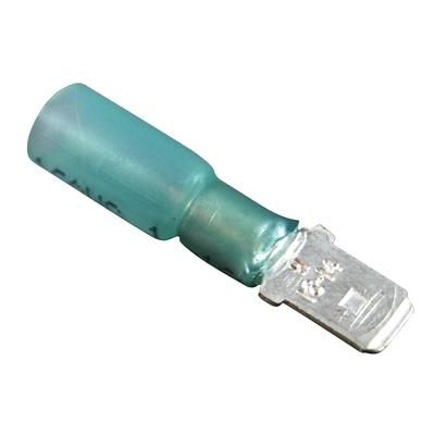 Marpac Heat Shrink Quick Disconnects - Insulated - 16-14 AWG - Male - Blue - Bulluna.com