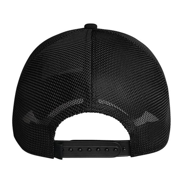 Yeti Patch Trucker Hat - Black on Black - Bulluna.com