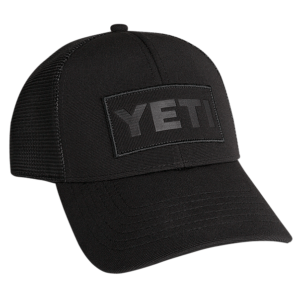 Yeti Patch Trucker Hat - Black on Black