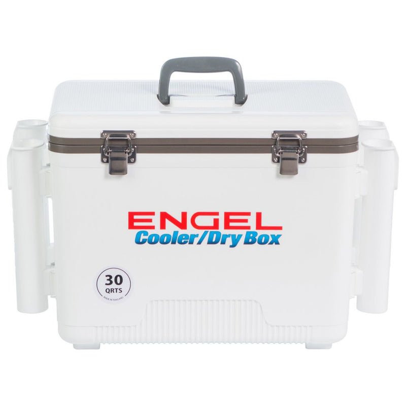 Engel 30 Quart Cooler Drybox with Rod Holders