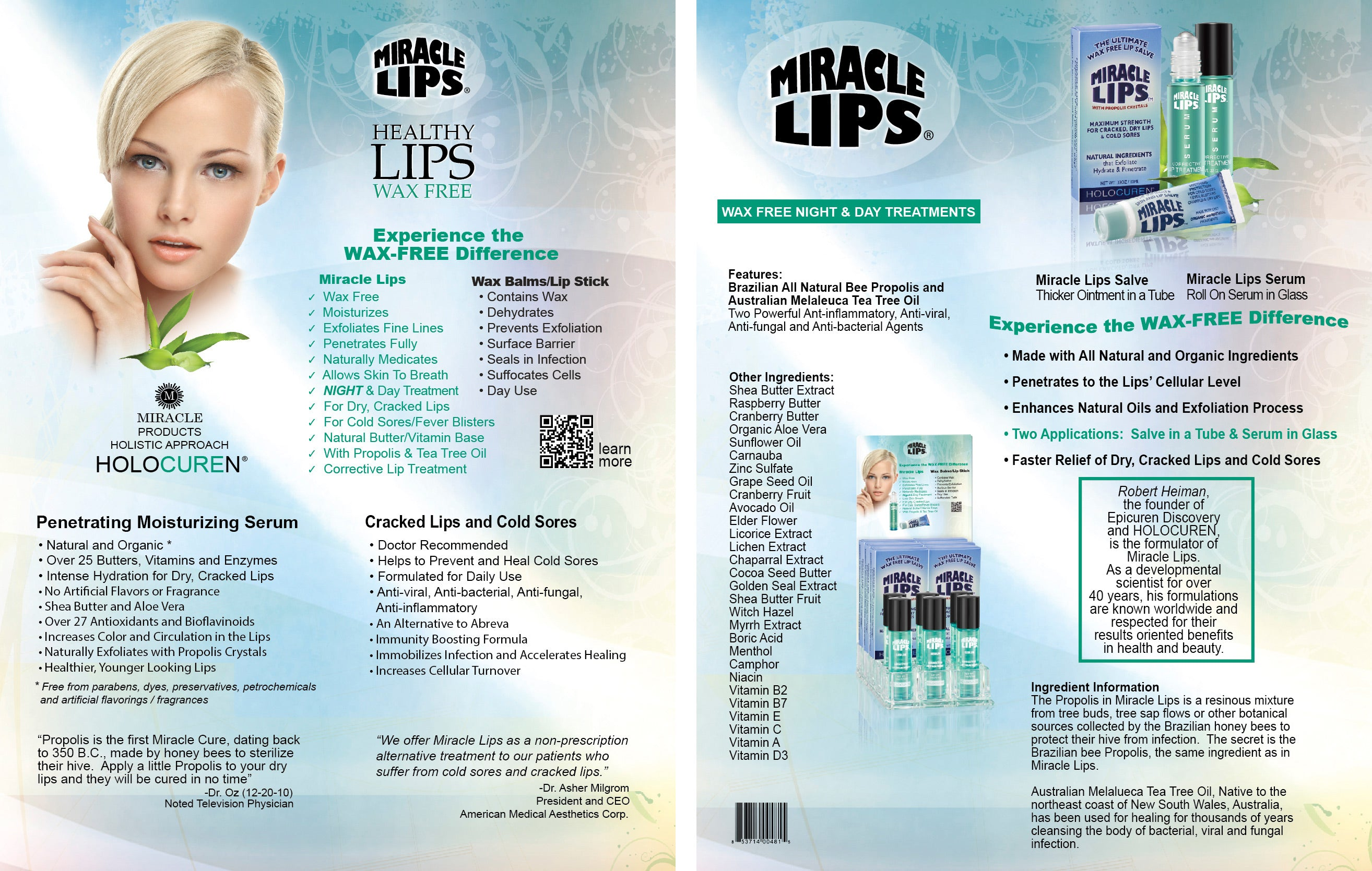 Miracle Lips Natural Wax-Free Lip Balm– HOLOCUREN - Official Website
