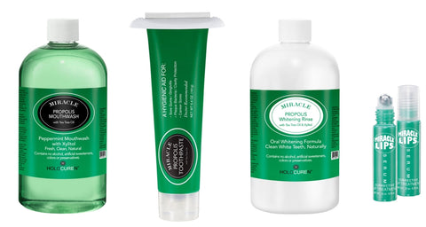 Natural Propolis Toothpaste and Oral Care Rinses
