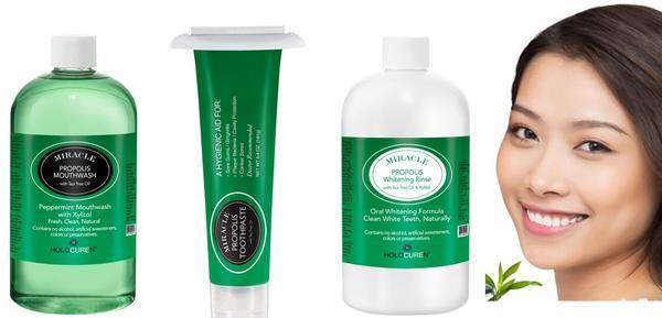 Two Pack of Natural Toothpaste Containing Propolis and Tea Tree Oil