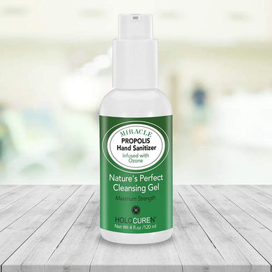 4 oz Miracle Propolis Hand Sanitizer with OZone in 64.5% alcohol base A+