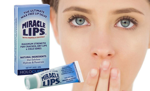 Miracle Lips Salve for Chronic Lip Ailments, 0.33 oz, Wax Free night & day Treatment - HOLOCUREN - Official Website