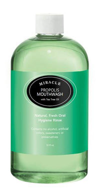 16 oz Miracle Propolis Mouth Wash with Tea Tree Oil, Natural - HOLOCUREN - Official Website