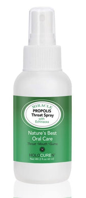 2 oz Miracle Propolis Throat Spray Infused with Echinacea & 6 other natural herbs