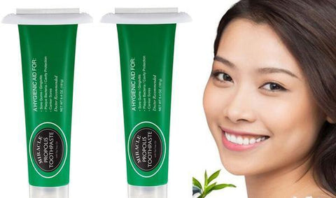 Two Pack of Natural Toothpaste Containing Propolis and Tea Tree Oil - HOLOCUREN - Official Website