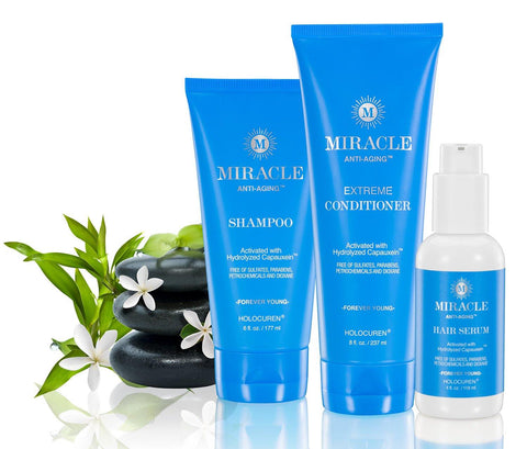 Miracle Anti-Aging Extreme 3 Pack Incl Shampoo, Extreme Conditioner & Hair Serum - HOLOCUREN - Official Website